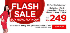 airasia booking may 2015  - flash sale