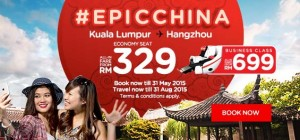 airasia booking may 2015 - kl-hangzhou