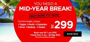 Cheap flights to Taipei, Perth, Colombo, Xi'an, Sydney and Osaka June 2015