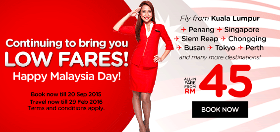AirAsia Malaysia |Book Cheap Flights Online To Over 90 Destinations - Malaysia Day Offers