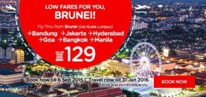 airasia airlines brunei promotion september 2015