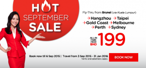 airasia airlines brunei promotion september 2015 - hot september sales