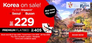 airasia airlines singapore online booking and promotion until 27 september 2015 - korea on sale
