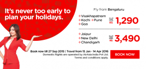 airasia promotion from india september 2015 - fly from Bengaluru