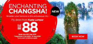 airasia promotion from kuala lumpur to changsha china september 2015