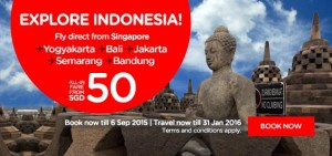 airasia promotion september 2015 from singapore - explore indonesia