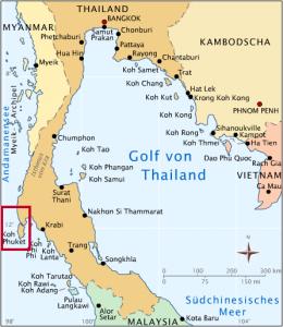 Phuket Thailand Map