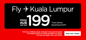 AirAsia Airlines Australia Promotions January 2016 - fly from Perth to Kuala Lumpur