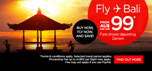 AirAsia Airlines Australia Promotions January 2016 - fly from Darwin to Bali