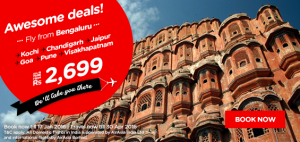 AirAsia Airlines India Promotions January 2016-awesome deals fly from Bengaluru
