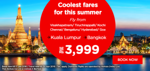 AirAsia Airlines India Promotions January 2016-coolest fares for this summer to kl and bangkok
