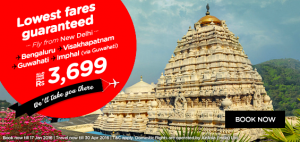 AirAsia Airlines India Promotions January 2016-fly from new delhi