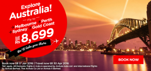 AirAsia Airlines India Promotions January 2016-fly to Australia