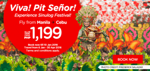 AirAsia Airlines Philippines Promotions January 2016 - sinulog festival