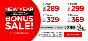 AirAsia Airlines Malaysia Promotion January 2016 -New Year Bonus Sale From Kuala Lumpur