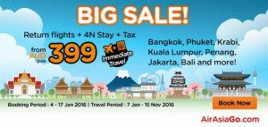 AirAsiaGo Australia Promotions January 2016 - BIG Sale