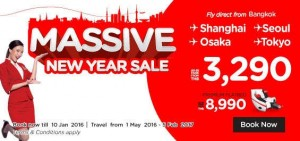 airasia airlines thailand promotions january 2016 - massive new year sale