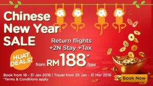 airasia promotion chinese new year 2016 BIG SALE  from RM188