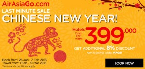 airasia promotion chinese new year 2016 BIG SALE  from RP 399