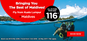 airasia promotions brunei march 2016 -fly to maldives from bnd 116