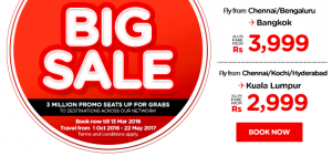 airasia promotions india march 2016 - big sales fly from chennai-bengaluru to bangkok-kuala lumpur
