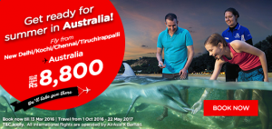 airasia promotions india march 2016 - fly to australia from rs 8800