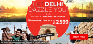 airasia promotions india march 2016 - let delhi dazzle you