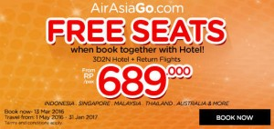 airasia promotions indonesia march 2016 - airasiago free seats from rp689000