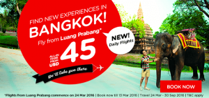 airasia promotions laos march 2016 - fly from luang prabang from usd 45