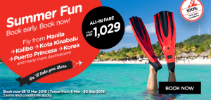 airasia promotions philippines march 2016 - summer fun from manila