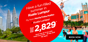 airasia promotions philippines march 2016 - summer fun from manila to kuala lumpur