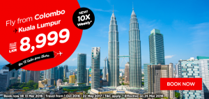 airasia promotions sri lanka march 2016 - fly from colombo to kuala  lumpur