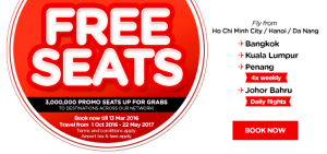 airasia promotions vietnam march 2016 - free seats