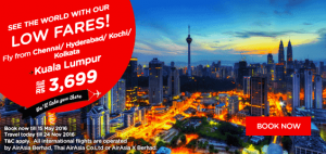 airasia latest news may 2016 low fares from chennai-hyderabad-kochi-kolkata