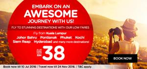 airasia promotion malaysia july 2016 from kuala lumpur