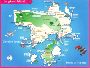 Cheap Flights Kuala Lumpur To Langkawi August 2016-Langkawi Island Map