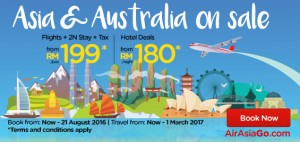 airasia booking august 2016-asia and australia on sale