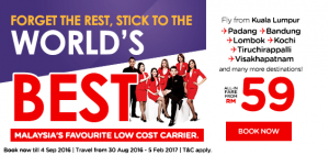 airasia promotion and online booking september 2016-malaysia favourite low cost