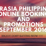 AirAsia Philippines Online Booking And Promotion September 2016