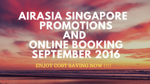 airasia singapore promotion and online booking september 2016