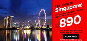 airasia thailand airlines online booking and promotions september 2016-best fares to singapore