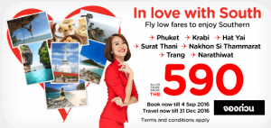 airasia thailand airlines online booking and promotions september 2016-love with south