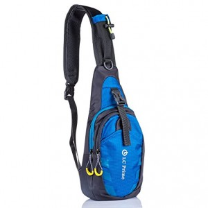 LC Prime® Sling Bag Chest Shoulder Unbalance Gym Fanny Backpack Sack Satchel Outdoor Bike -Blue Colour