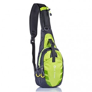 LC Prime® Sling Bag Chest Shoulder Unbalance Gym Fanny Backpack Sack Satchel Outdoor Bike -Green Colour