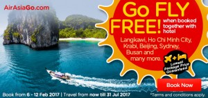 AirAsia Go fly free from Kuala Lumpur to Medan March 2017 - go fly free