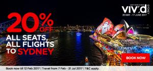 AirAsia tickets discount from Kuala Lumpur to Sydney February 2017- sydney